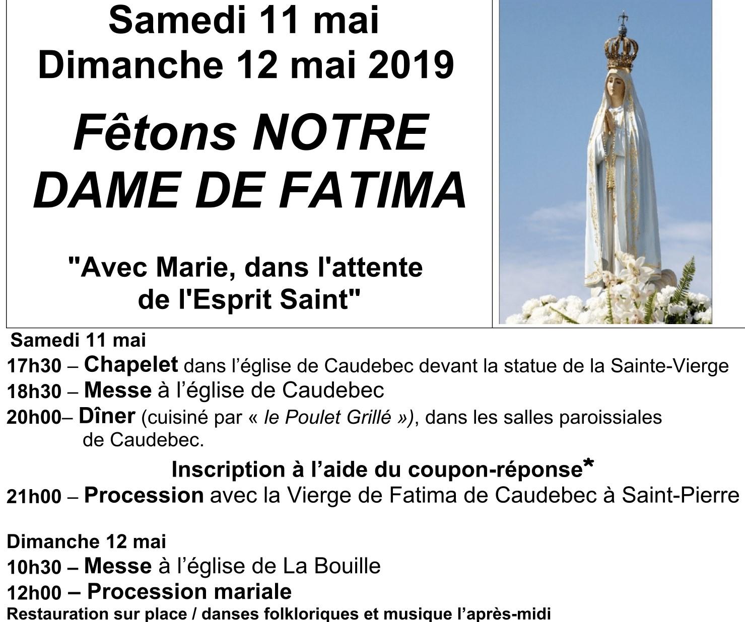 Fatima 12 mai
